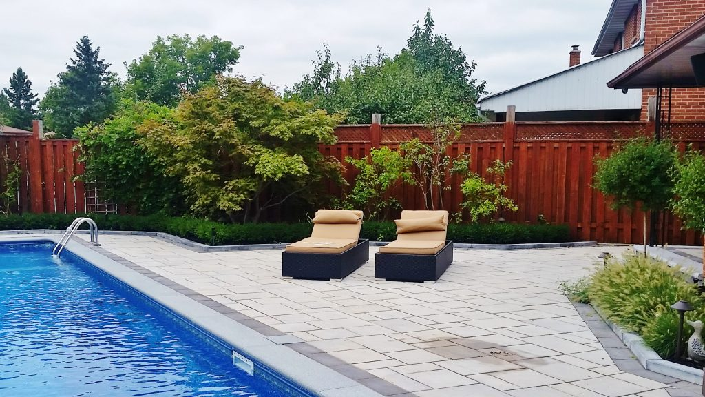 Rectangular Swimming Pool With Composite Deck Thornhill
