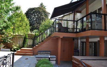 Multilevel Backyard Design in Toronto