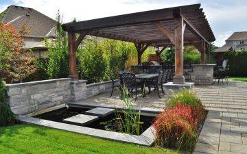 barrie back yard landscaping 1
