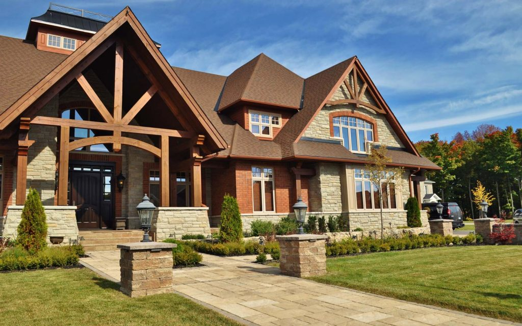 Barrie Timbered Front Yard Landscaping 1