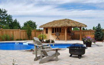 Burlington Tropical Pool Design and Cabana