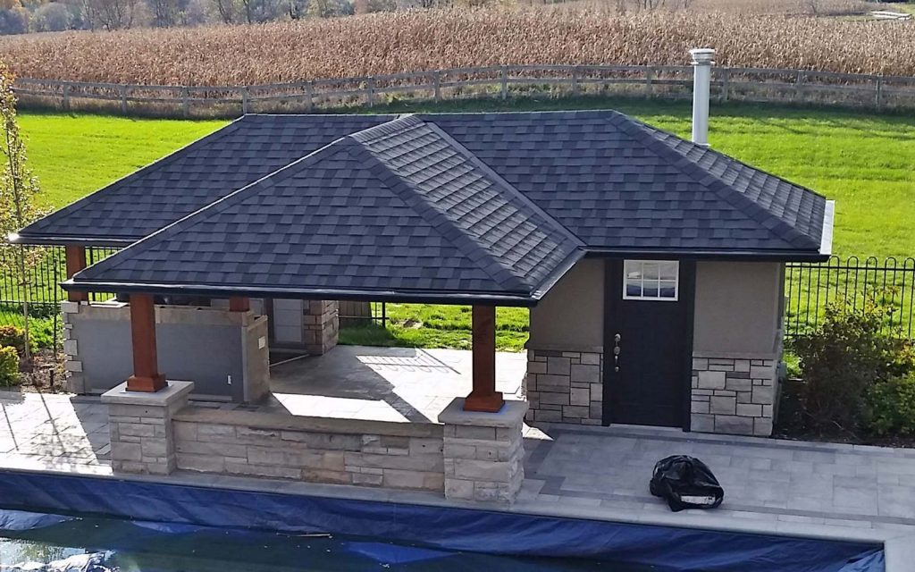 Professional Pool Cabana Design with Outdoor Kitchen in Caledon