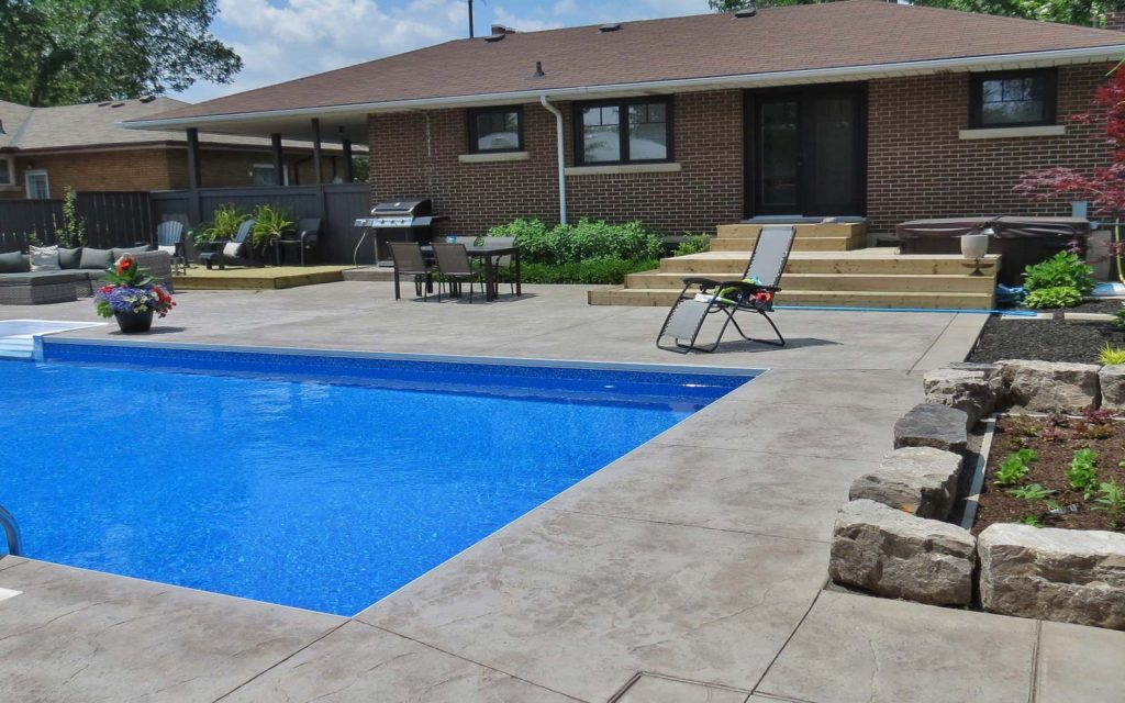 contemporary pool design in greater toronto and golden