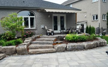 Naturalistic backyard landscaping design