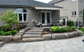 Naturalistic backyard landscaping design