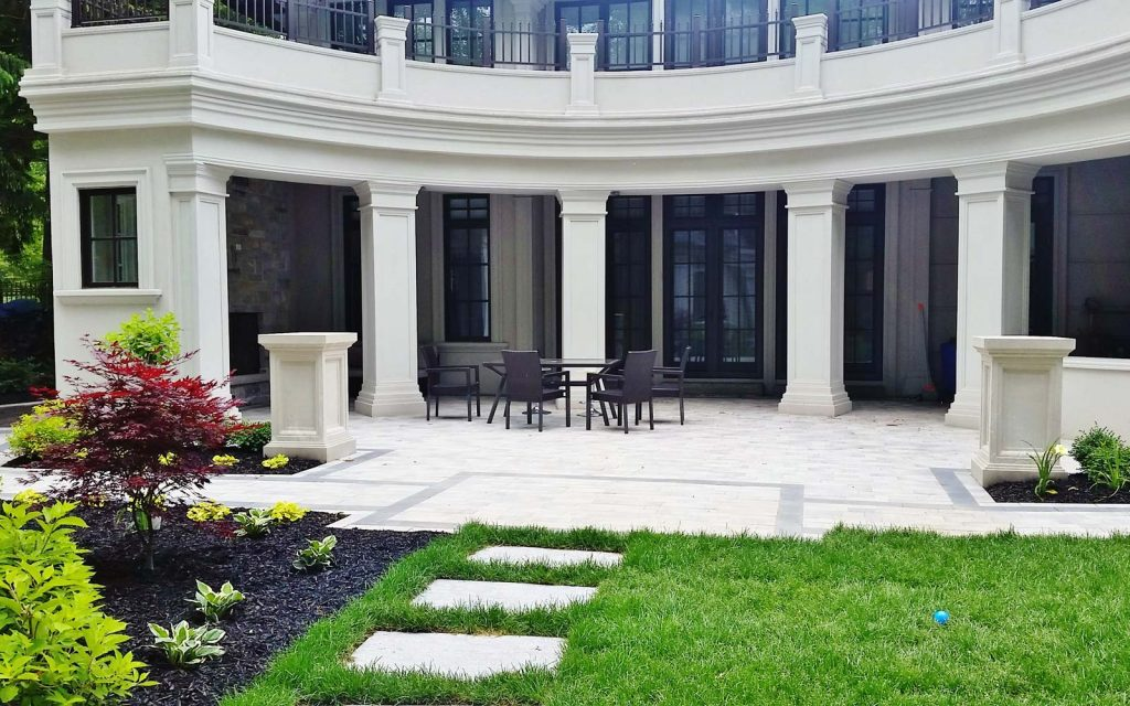 Classic Traditional Landscaping Design Style In Oakville
