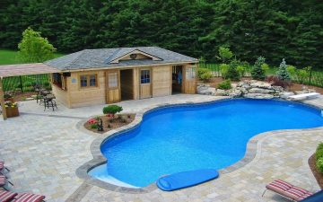 Toronto Waterdown Pool Design and Cabana
