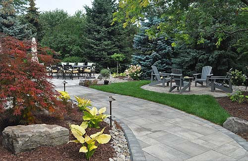 Backyard landscape designing