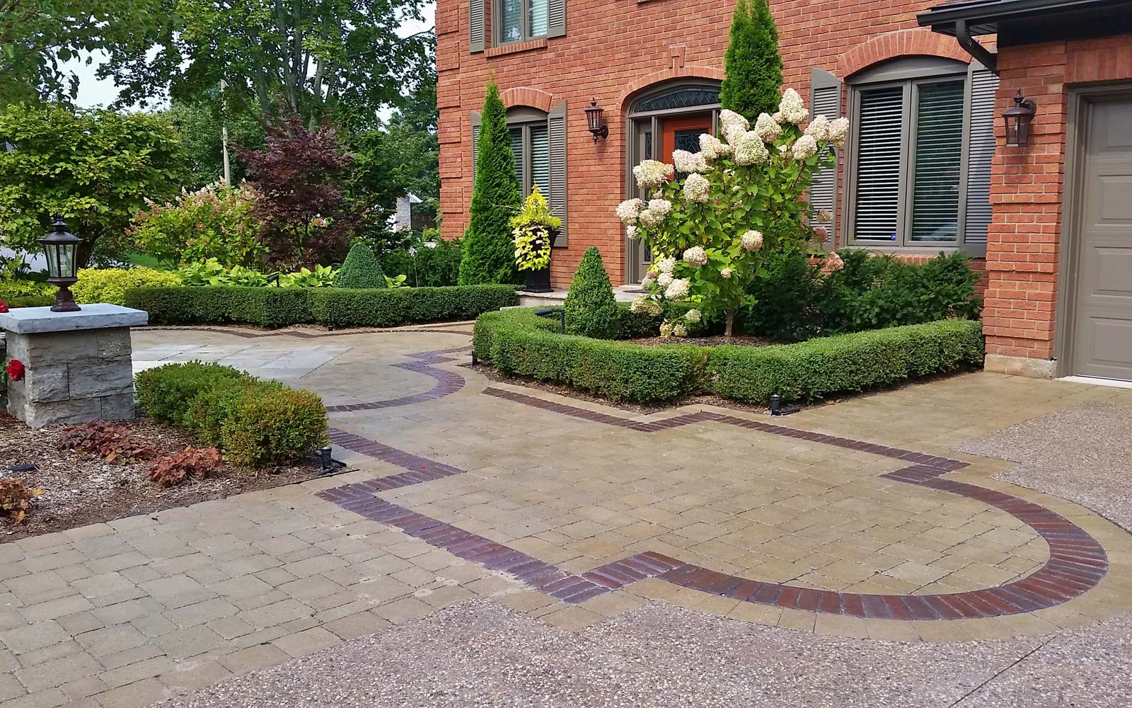 Classic and Elegance Front Yard Interlock Design in Grimsby